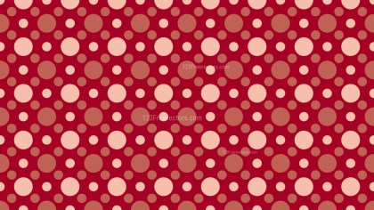 Red Retro Circles Background Pattern