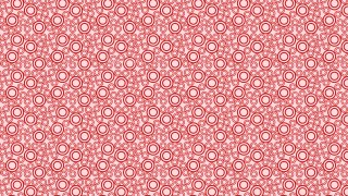 Red Seamless Circle Pattern Vector Graphic