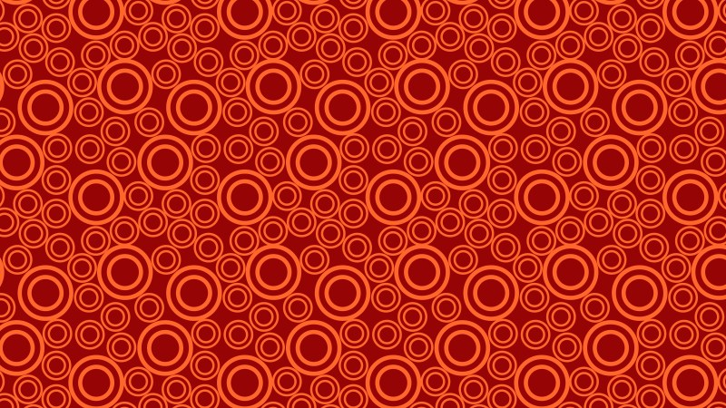 Red Seamless Circle Pattern Background Vector Image