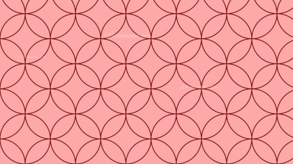 Red Seamless Overlapping Circles Background Pattern