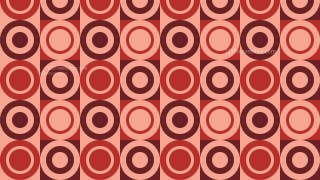 Red Vintage Circles Pattern Background