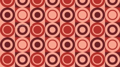 Red Vintage Circles Pattern Background