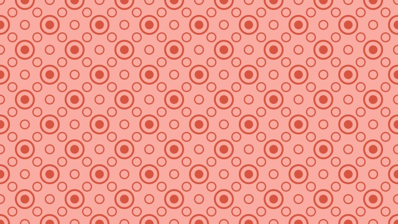 Light Red Seamless Circle Pattern Background