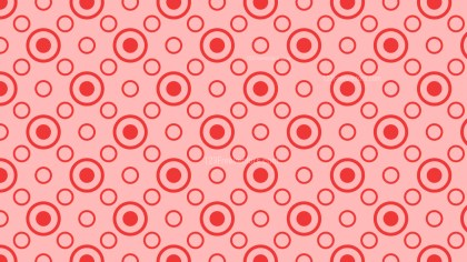 Red Seamless Geometric Circle Pattern