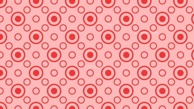 Red Seamless Geometric Circle Pattern