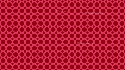 Red Circle Pattern Background Vector Illustration