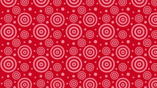 Red Seamless Concentric Circles Pattern Vector Image