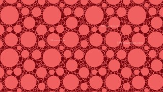 Red Seamless Circle Pattern Background