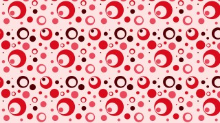 Red Seamless Circle Pattern Illustrator