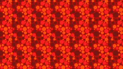 Red Scattered Dots Pattern Design