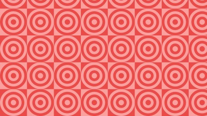 Red Seamless Concentric Circles Background Pattern Vector Illustration