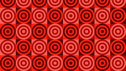 Red Concentric Circles Pattern