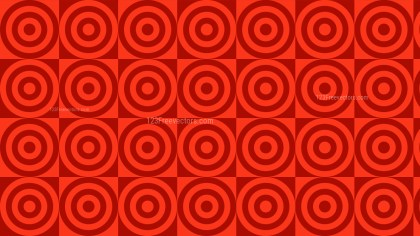 Red Concentric Circles Background Pattern