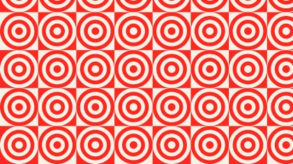 Red Seamless Concentric Circles Background Pattern