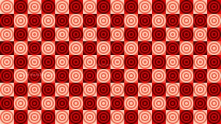 Red Concentric Circles Pattern Vector Graphic