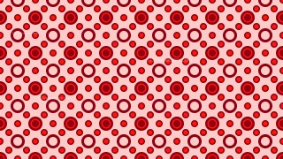 Red Seamless Circle Background Pattern Vector