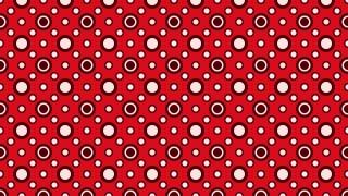 Red Seamless Geometric Circle Pattern Background Graphic