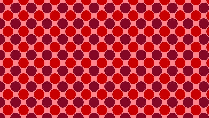 Red Geometric Circle Pattern