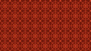 Dark Red Seamless Geometric Circle Pattern