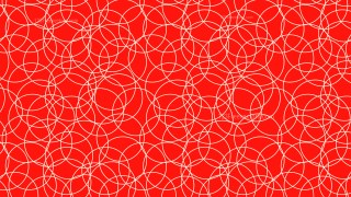 Red Seamless Overlapping Circles Background Pattern Vector Image