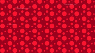 Red Random Circles Dots Pattern Background