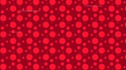 Red Random Circles Dots Pattern Background
