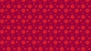 Red Random Circles Dots Background Pattern