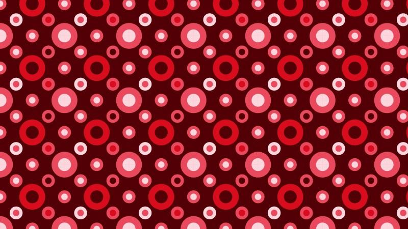 Dark Red Seamless Geometric Circle Background Pattern