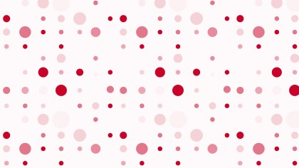 Light Red Scattered Dots Pattern