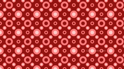 Red Circle Pattern Vector