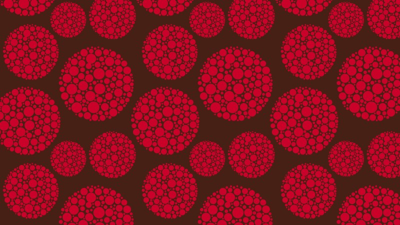 Dark Red Dotted Circles Background Pattern Vector Art