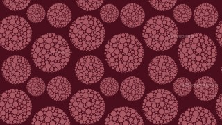 Dark Red Seamless Dotted Circles Pattern Graphic
