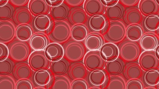 Red Seamless Geometric Circle Pattern Vector Illustration