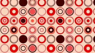 Red Seamless Retro Circles Pattern Background