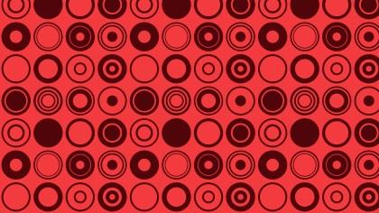 Red Geometric Circle Pattern Background
