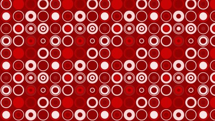 Red Seamless Circle Pattern