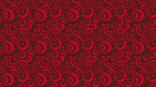 Dark Red Seamless Circle Pattern Vector