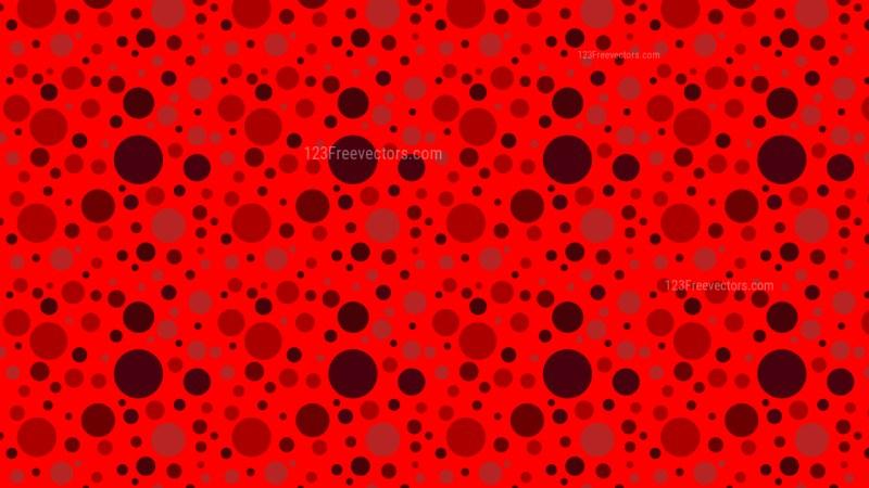 Red Seamless Random Dots pattern