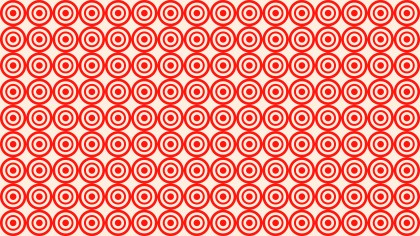 Red Seamless Concentric Circles Pattern Vector Illustration