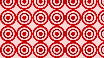 Red Seamless Concentric Circles Background Pattern Vector Art