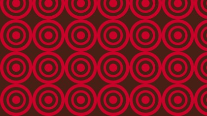 Dark Red Concentric Circles Pattern