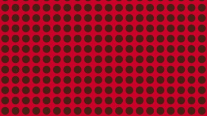 Dark Red Seamless Circle Pattern