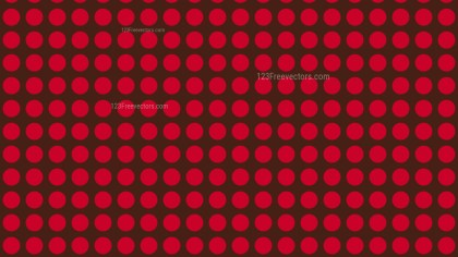 Dark Red Seamless Circle Pattern Background