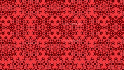 Red Seamless Geometric Circle Pattern Background