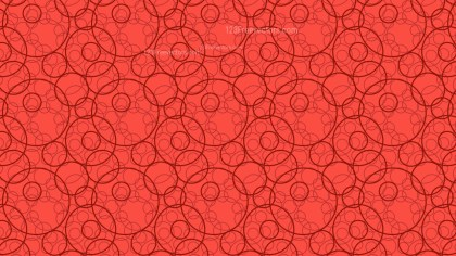 Red Intersecting Circles Pattern Background