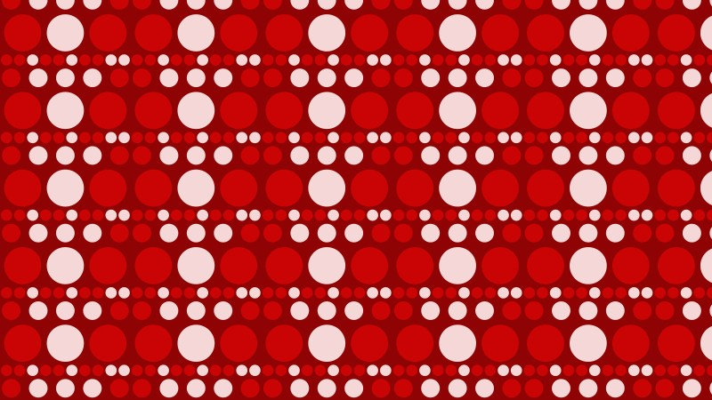 Red Seamless Circle Background Pattern Vector Graphic