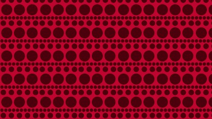 Dark Red Seamless Geometric Circle Pattern Vector Image