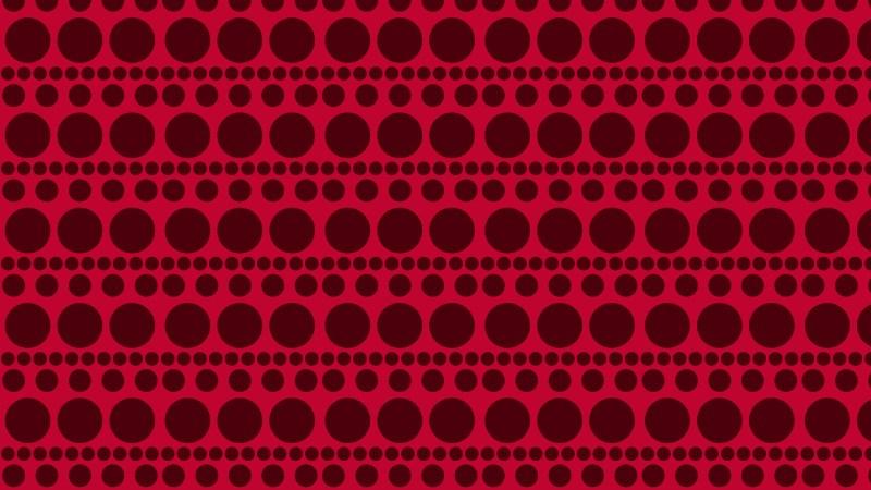 Dark Red Seamless Geometric Circle Pattern Vector Image