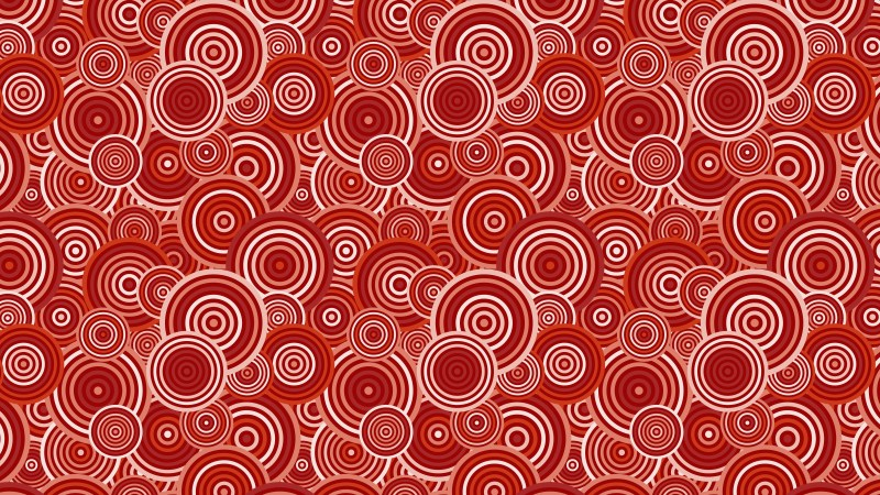Red Overlapping Concentric Circles Pattern Background