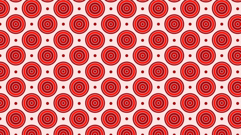 Red Concentric Circles Pattern Background Vector Illustration